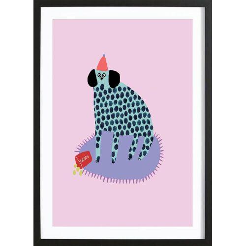 """JUNIQE Bild Hunde """"Partydog"""" von JUNIQE - Künstler: Lora O'Callaghan"""