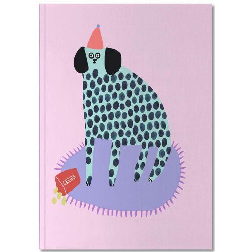 """JUNIQE Notizbuch Hunde """"Partydog"""" von JUNIQE - Notizheft Design"""