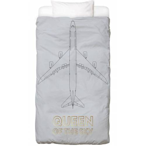 "JUNIQE Kinderbettwäsche Flugzeuge ""Queen of the Sky"" von JUNIQE"