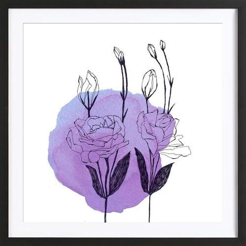 """JUNIQE Bild Blumen """"Lisianthus"""" von JUNIQE - Künstler: Morgan Kendall"""