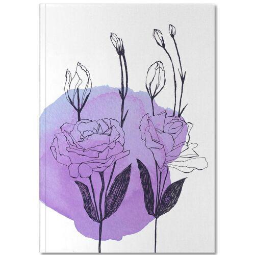 """JUNIQE Notizbuch Blumen """"Lisianthus"""" von JUNIQE - Notizheft Design"""