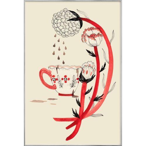 """JUNIQE Poster im Alurahmen Kaffee """"Coffee"""" von JUNIQE - Künstler: Daniela Spoto"""