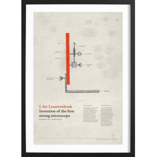 "JUNIQE Bild Typografie & Symbole ""L for Leeuwenhoek"" von JUNIQE - Künstler: Khyati Trehan"