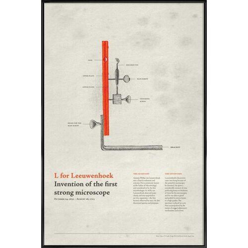 "JUNIQE Poster Typografie & Symbole ""L for Leeuwenhoek"" von JUNIQE - Künstler: Khyati Trehan"
