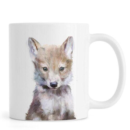 """JUNIQE Tassen Wölfe """"Little Wolf"""" von JUNIQE"""