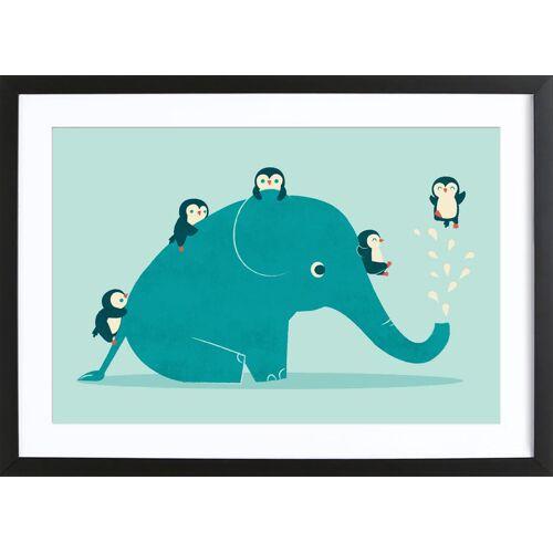 "JUNIQE Bild Elefanten ""Waterslide"" von JUNIQE - Künstler: Jay Fleck"