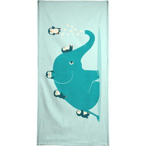 """JUNIQE Handtücher Elefanten """"Waterslide"""" von JUNIQE"""