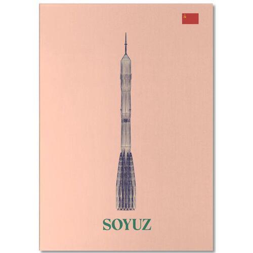 """JUNIQE Notizblock Raumschiffe & Raketen """"SOYUZ 3 CCCP Flag"""" von JUNIQE"""
