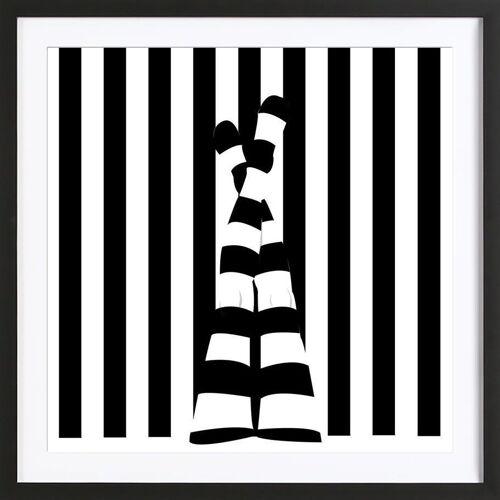 "JUNIQE Bild Körperformen ""Striping legs"" von JUNIQE - Künstler: Ctoft"