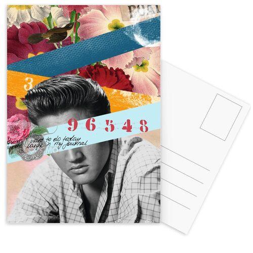 """JUNIQE Postkarten Elvis """"Public Figures: Elvis"""" von JUNIQE - Karten Kunst"""