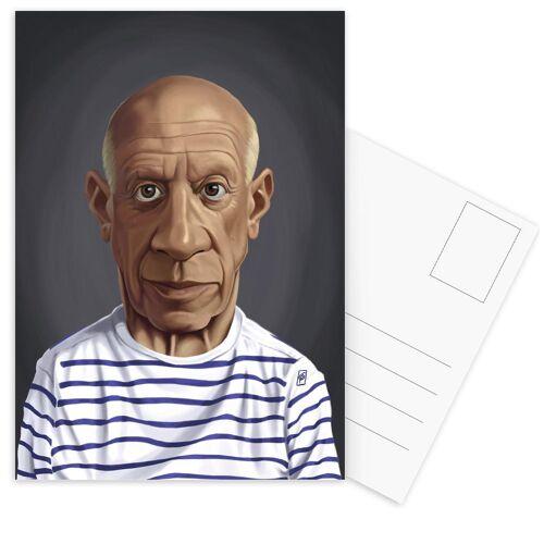 """JUNIQE Postkarten Maler & Künstler """"Pablo Picasso"""" von JUNIQE - Karten Kunst"""