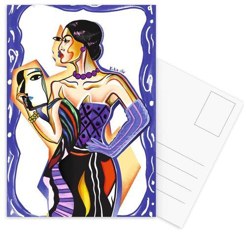 """JUNIQE Postkarten Motivation """"Picasso 1"""" von JUNIQE - Karten Kunst"""