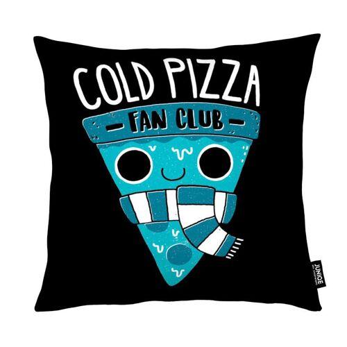 """JUNIQE Deko Kissen Pizza """"Cold Pizza Fan Club"""" von JUNIQE"""