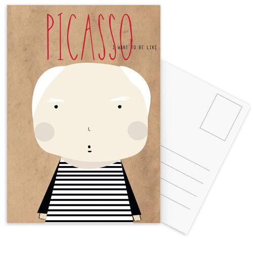 """JUNIQE Postkarten Maler & Künstler """"Little Picasso"""" von JUNIQE - Karten Kunst"""