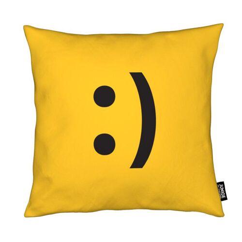 "JUNIQE Deko Kissen Symbole ""Smiley"" von JUNIQE"