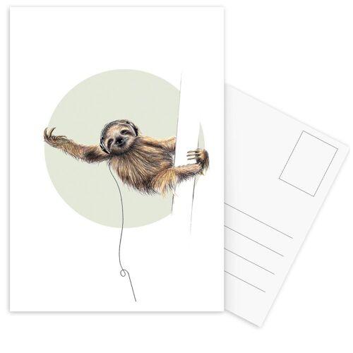 "JUNIQE Postkarten Faultiere ""Sloth"" von JUNIQE - Karten Kunst"