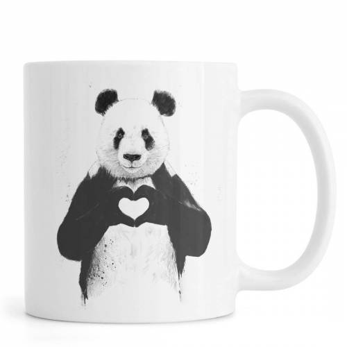 "JUNIQE Tassen Pandas ""All You Need Is Love"" von JUNIQE"