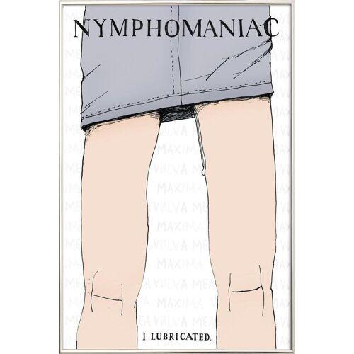 """JUNIQE Poster im Alurahmen Typografie & Symbole """"Nymphomaniac"""" von JUNIQE - Künstler: Mary and the Locks"""