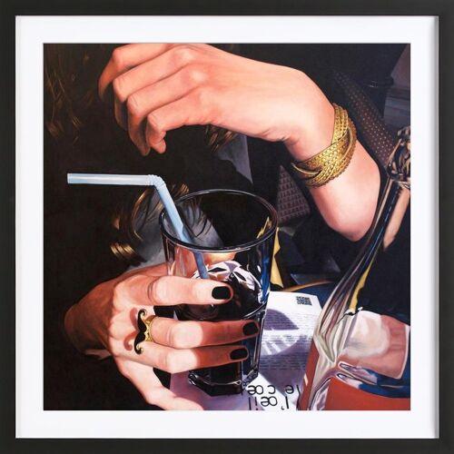 """JUNIQE Bild Cocktails """"Main Cocacola"""" von JUNIQE - Künstler: Jérôme Romain"""