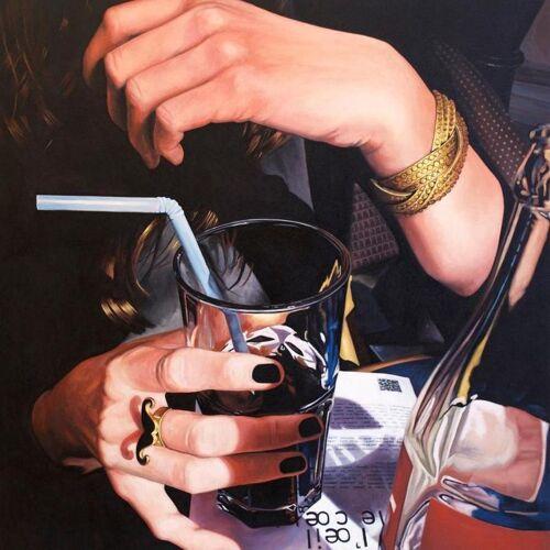 """JUNIQE Leinwandbild Cocktails """"Main Cocacola"""" von JUNIQE - Künstler: Jérôme Romain"""