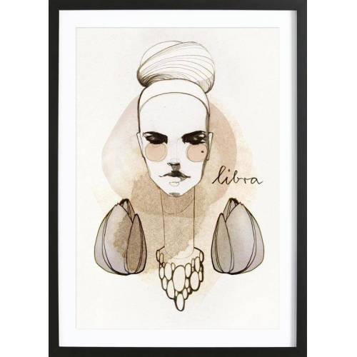 "JUNIQE Bild Menschen ""Waage"" von JUNIQE - Künstler: Ekaterina Koroleva"