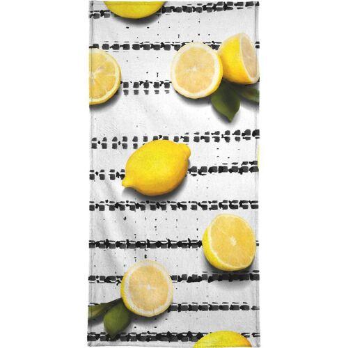 """JUNIQE Handtücher Zitronen """"Fruit 4"""" von JUNIQE"""