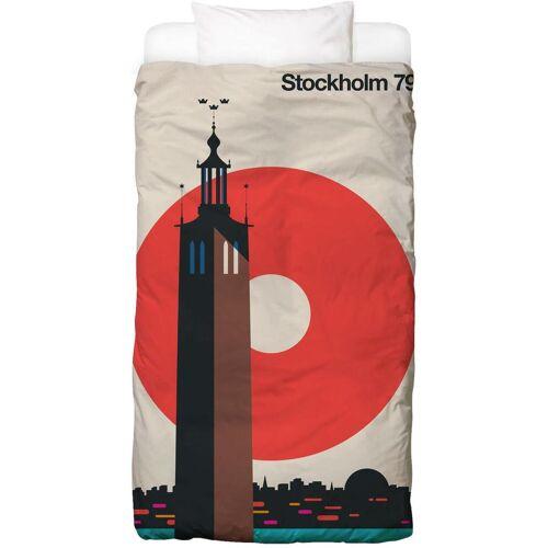 """JUNIQE Bettwäsche Stockholm """"Stockholm 79"""" von JUNIQE"""