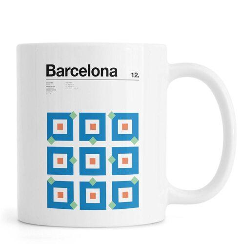 "JUNIQE Tassen Barcelona ""Barcelona"" von JUNIQE"