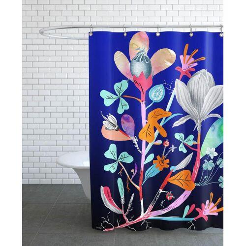 """JUNIQE Duschvorhang Botanik """"Botanica Blue"""" von JUNIQE"""