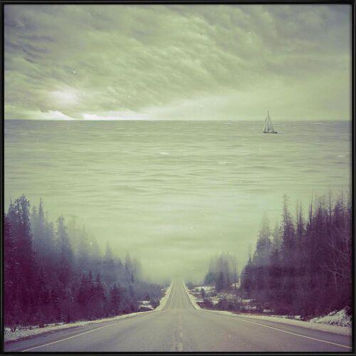 "JUNIQE Poster Abstrakte Landschaften ""Dubcism"" von JUNIQE - Künstler: Eugene Soloviev"