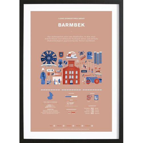 "JUNIQE Bild Hamburg ""Barmbek"" von JUNIQE - Künstler: Bureau Bald"