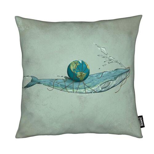 "JUNIQE Deko Kissen Wale ""Save The Planet II"" von JUNIQE"