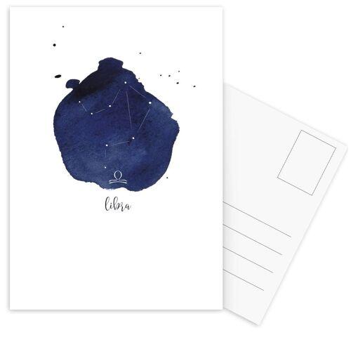"""JUNIQE Postkarten Geburtstage """"Libra"""" von JUNIQE - Karten Kunst"""