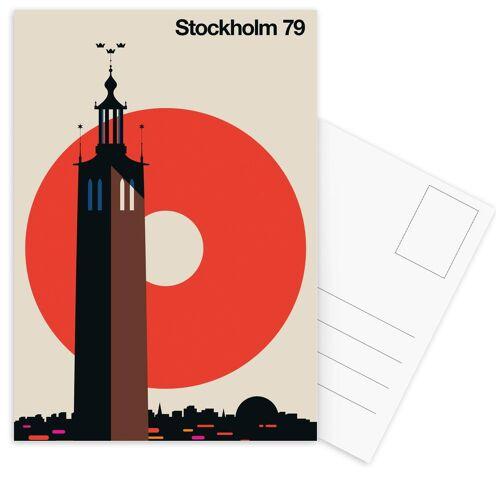 "JUNIQE Postkarten Stockholm ""Stockholm 79"" von JUNIQE - Karten Kunst"