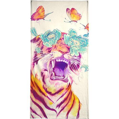 "JUNIQE Handtücher Tiger ""Tropicalia"" von JUNIQE"