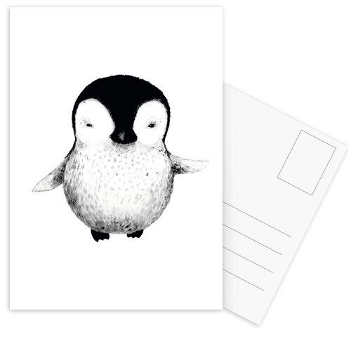 "JUNIQE Postkarten Pinguine ""Penguin"" von JUNIQE - Karten Kunst"