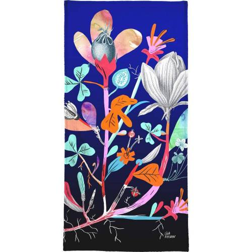 "JUNIQE Handtücher Botanik ""Botanica Blue"" von JUNIQE"