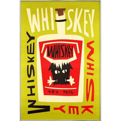 "JUNIQE Poster im Alurahmen Whiskey ""Whiskey Whiskey"" von JUNIQE - Künstler: Fox & Velvet"