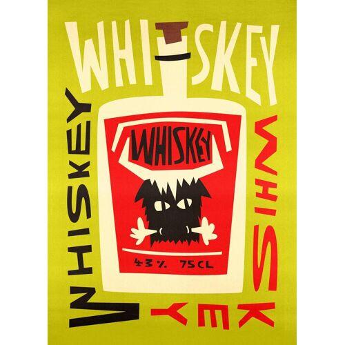 "JUNIQE Leinwandbild Whiskey ""Whiskey Whiskey"" von JUNIQE - Künstler: Fox & Velvet"
