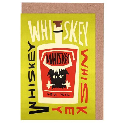 """JUNIQE Grußkarten Whiskey """"Whiskey Whiskey"""" von JUNIQE - Karten Design"""