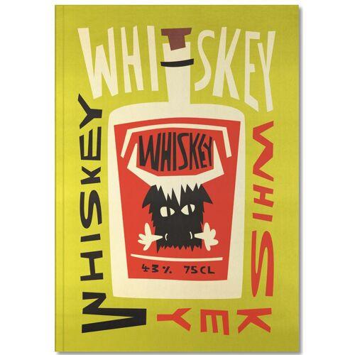 """JUNIQE Notizbuch Whiskey """"Whiskey Whiskey"""" von JUNIQE - Notizheft Design"""