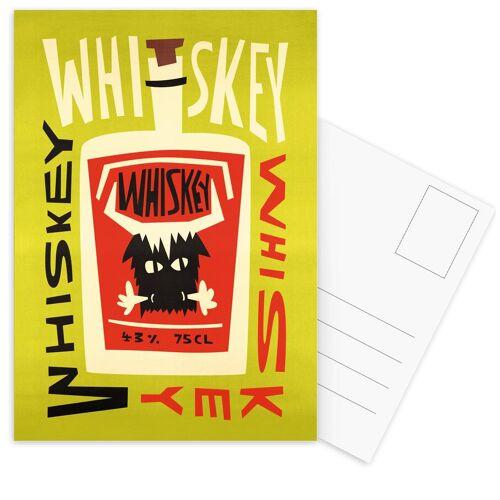 "JUNIQE Postkarten Whiskey ""Whiskey Whiskey"" von JUNIQE - Karten Kunst"