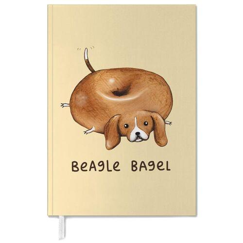 "JUNIQE Terminplaner 2021 Hunde ""Beagle Bagel"" von JUNIQE"