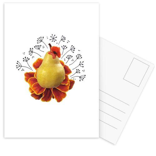 """JUNIQE Postkarten Birnen """"Pear Collage"""" von JUNIQE - Karten Kunst"""