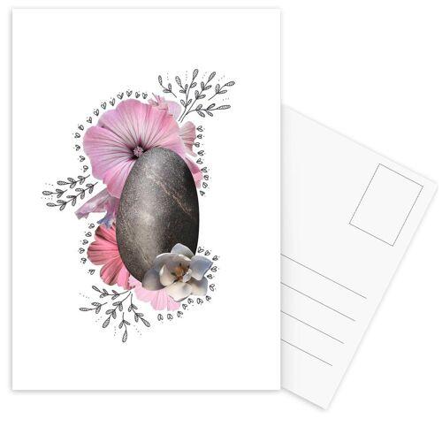 """JUNIQE Postkarten Blumen """"Rock Collage"""" von JUNIQE - Karten Kunst"""