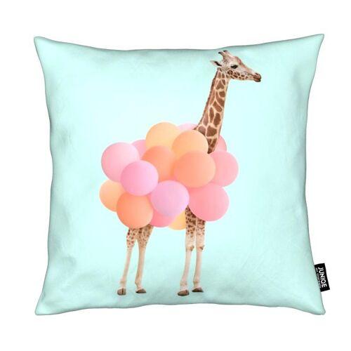 "JUNIQE Deko Kissen Giraffen ""Party Giraffe"" von JUNIQE"