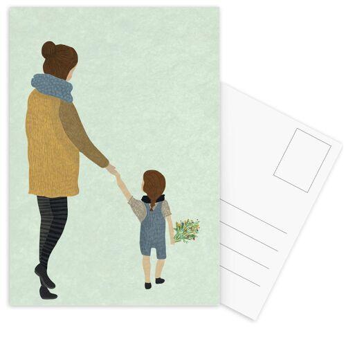 """JUNIQE Postkarten Muttertag """"Mom"""" von JUNIQE - Karten Kunst"""