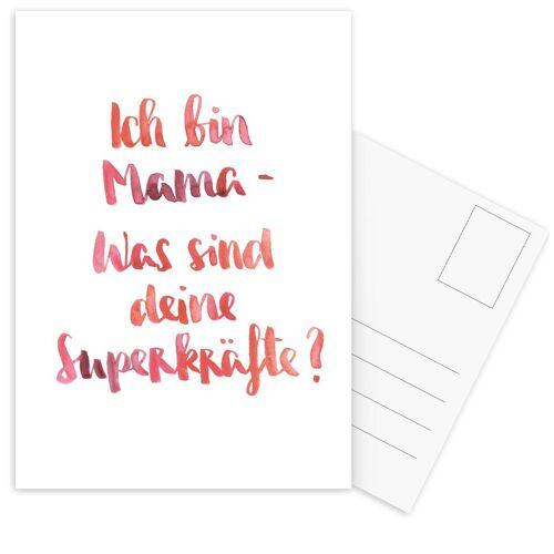 """JUNIQE Postkarten Muttertag """"Mama 3"""" von JUNIQE - Karten Kunst"""