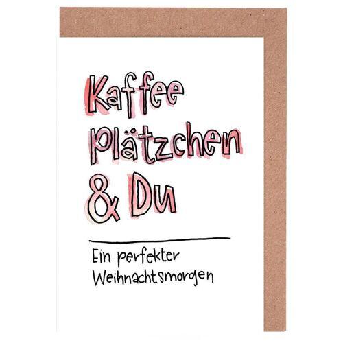 """JUNIQE Grußkarten Zitate & Slogans """"Kaffee & Du"""" von JUNIQE - Karten Design"""
