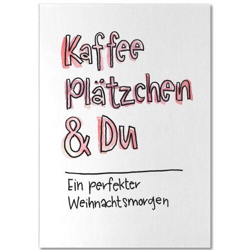 """JUNIQE Notizblock Zitate & Slogans """"Kaffee & Du"""" von JUNIQE"""